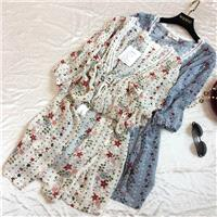 Seen Through Split Front Chiffon Lace Floral Over Knee Cardigan Blouse Coat - Discount Fashion in be
