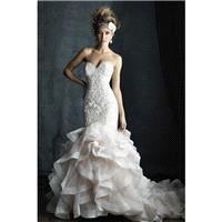 Style C389 by Allure Couture - Sweetheart Net Sleeveless Chapel Length Mermaid Floor length Dress -