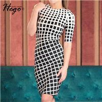 Must-have Vogue Attractive Printed Slimming 1/2 Sleeves Formal Wear Dress - Bonny YZOZO Boutique Sto