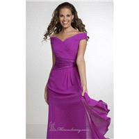 Geranium Asymmetrical Waistband Dress by Christina Wu Occasions - Color Your Classy Wardrobe