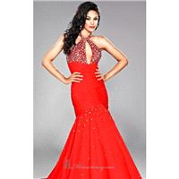 Red Chiffon Dress by Landa Designs Signature Pageant - Color Your Classy Wardrobe