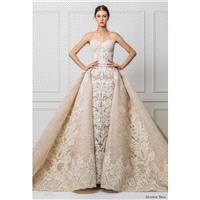 Maison Yeya 2017 Royal Train Nude Sweet Sleeveless Ball Gown Lace Winter Sweetheart Appliques Hall W