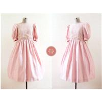 Ms. Rosy Dress | s | 1980s japan vintage | dusty pink lace dolly dress - Hand-made Beautiful Dresses