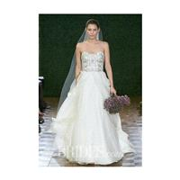 Watters - Spring 2015 - Style 6072B Strapless Silk Taffeta and Organza Beaded Ball Gown Wedding Dres