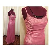Vintage 2 Piece Pink Beaded Blouse and Skirt Prom Formal Bridesmaid Princess Ball Gown Dress - Hand-