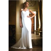 Style E17826 by Special Day European Collection - Chiffon Cowl back Floor Sweetheart  Straps Column