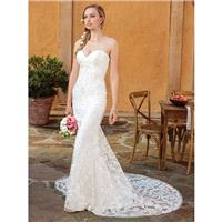 Casablanca Bridal 2018 2326 Darby Ivory Chapel Train Sweet Sweetheart Fit & Flare Sleeveless Beading