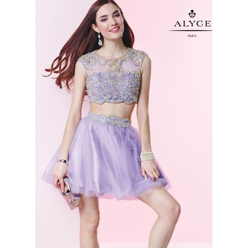 My Stuff, Alyce 4435 Cap Sleeve Crop Top Party Dress - 2018 Spring Trends Dresses|Beaded Evening Dre