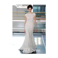 Rivini - Fall 2014 - Margherita Cap Sleeve French Lace Sheath Wedding Dress - Stunning Cheap Wedding