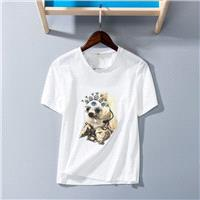 Must-have Vogue Simple Printed Scoop Neck Short Sleeves Cartoon One Color T-shirt - Discount Fashion