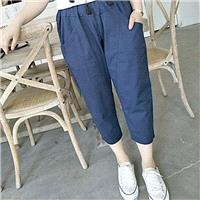 Must-have Slimming Plus Size High Waisted Cotton One Color Casual Trouser - Lafannie Fashion Shop