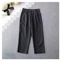 Must-have One Color Wide Leg Pant Casual Trouser - Discount Fashion in beenono