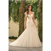 Style F181003 by Jasmine Collection - Floor length Sweetheart Organza Fit-n-flare Cap sleeve Dress -