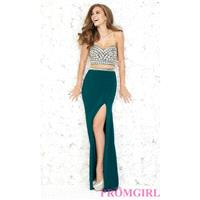 Strapless Prom Dress by Madison James - Brand Prom Dresses|Beaded Evening Dresses|Unique Dresses For