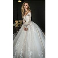 Olivia Bottega 2018 OB7962 Ball Gown Long Sleeves Off-the-shoulder Detachable Lace Sweet Appliques I