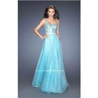 Aqua Gigi 19350 - Ball Gowns Crystals Sequin Dress - Customize Your Prom Dress