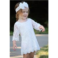 The Simply Grace Lace Flower Girl Dress - Hand-made Beautiful Dresses|Unique Design Clothing