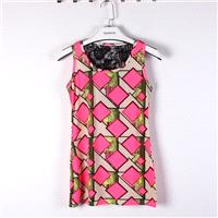 Must-have Split Front Slimming Lace Sleeveless Top - Discount Fashion in beenono