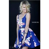 Navy Sherri Hill 32321 - Short Dress - Customize Your Prom Dress