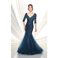 Ivonne D by Mon Cheri - V-Neck Tulle Trumpet Gown 216D50 - Designer Party Dress & Formal Gown