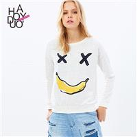 Oversized Vogue Printed Fruits Playful Casual Hoodie - Bonny YZOZO Boutique Store