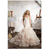 Morilee by Madeline Gardner Maisie/8111 - Mermaid Sweetheart Natural Floor Chapel Organza Lace - For