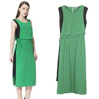 Must-have Contrast Color Sleeveless Summer Dress - Lafannie Fashion Shop