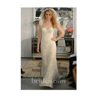 Wtoo - Spring 2013 - Aveline Lace A-Line Wedding Dress with a Portrait Neckline and Cap Sleeves - St