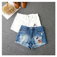 Must-have Printed Ripped Zipper Up Cowboy Summer Casual Buttons Short - Discount Fashion in beenono