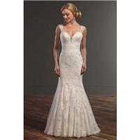 Style 832 by Martina Liana - Ivory  White Lace Illusion back Floor Sweetheart  Straps Fit and Flare