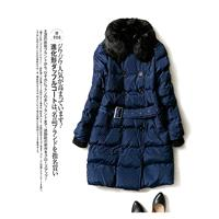 Must-have Slimming Fur Collar Polo Collar Comfortable 9/10 Sleeves Buttons Cotten Coat Top Coat - Di
