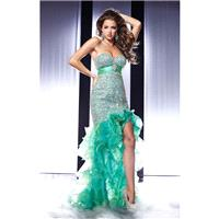 Emerald Swirl Panoply 14561 - Crystals High Slit Sequin Dress - Customize Your Prom Dress