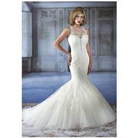 Karelina Sposa Exclusive C7972 - Mermaid Floor Chapel Organza Embroidery - Formal Bridesmaid Dresses