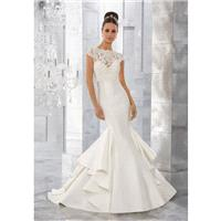 Morilee by Madeline Gardner Fall/Winter Merci 5563 Appliques Elegant Chapel Train Satin Ivory Sweeth