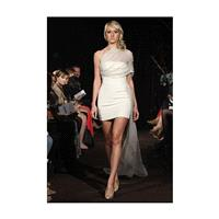 Anne Bowen - Fall 2012 - All You Need Is Love Short Sheath Wedding Dress with Illusion Tulle Strap a