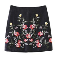 Must-have Vogue Embroidery Slimming Sheath High Waisted Floral Skirt - Lafannie Fashion Shop