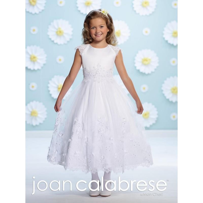 My Stuff, Joan Calabrese 116375 Flower Girls Sheer Beaded Dress - Brand Prom Dresses|Beaded Evening
