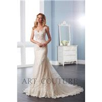Eternity Bride Style AC537 by Art Couture - Ivory  Champagne Lace Floor Sweetheart  Straps Fishtail