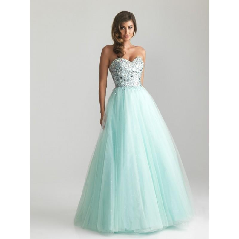 My Stuff, Night Moves 6669 Tulle Ball Gown Prom Dress - Crazy Sale Bridal Dresses|Special Wedding Dr