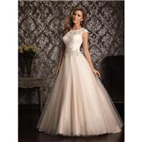 Champagne/Ivory/Silver Allure Bridals 9022 Allure Bridal - Rich Your Wedding Day