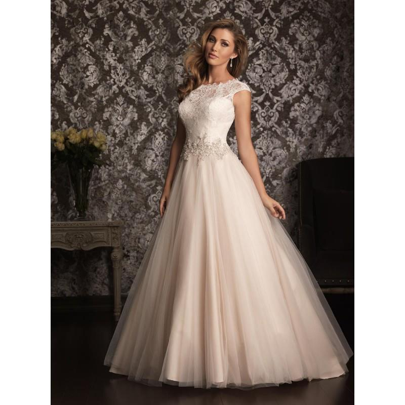 My Stuff, Champagne/Ivory/Silver Allure Bridals 9022 Allure Bridal - Rich Your Wedding Day