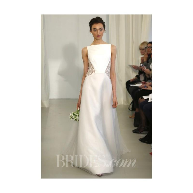 My Stuff, Angel Sanchez - Spring 2014 - Style N10002 Silk Wedding Dress with Bateau Neckline - Stunn