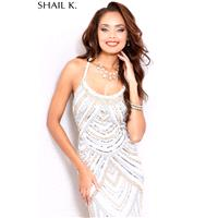 Shailk Prom 2016   Style 3784 IVORY SILVER GOLD -  Designer Wedding Dresses|Compelling Evening Dress