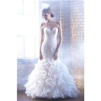 Madison James Style MJ155 by Madison James - Ivory  White  Champagne Lace  Organza Floor Wedding Dre
