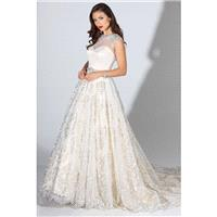 Chapel Train Sweet Ivory Illusion Cap Sleeves Ball Gown Fall Lace Zipper Up Hall Beading Dress For B
