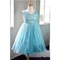 Flower girl Mint Silk Multi Layer Dress (0010) - Hand-made Beautiful Dresses|Unique Design Clothing