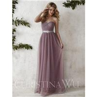 Christina Wu Occasions 22676 Long Tulle Bridesmaid Dress - Crazy Sale Bridal Dresses|Special Wedding