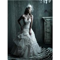 Allure Couture C209 Strapless Ruched Organza Wedding Dress - Crazy Sale Bridal Dresses|Special Weddi
