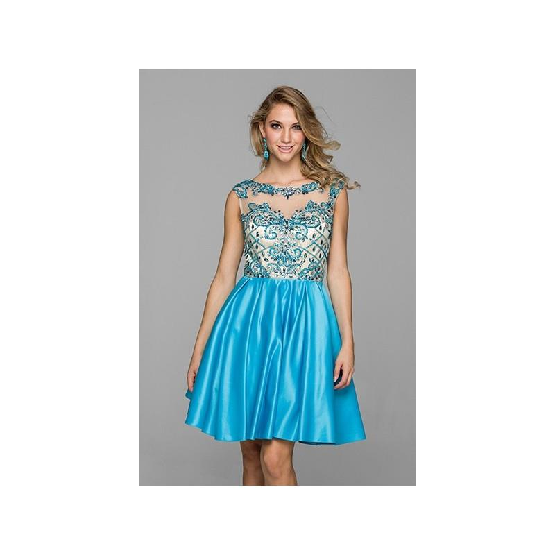 My Stuff, Knee Length Homecoming Dress with Cap Sleeve Bodice - Crazy Sale Bridal Dresses|Special We