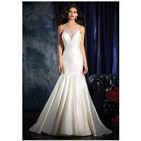 Alfred Angelo Sapphire Bridal Collection 992 - Mermaid Illusion Natural Floor Semi-Cathedral Special